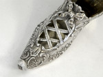 ANTIQUE CONTINENTAL SOLID SILVER SHOE IMPORT MARK 1899