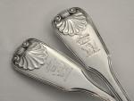 6 GEO. IV GEORGIAN SOLID SILVER TABLE SPOONS / SERVING SPOONS LONDON 1823