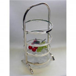 Silver Plated Modern 4 Tier Cake Stand /  Afternoon Tea Stand