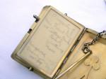 ANTIQUE CONTINENTAL SILVER & ENAMEL AIDE MEMOIRE COMPACT CASE c. 1910