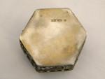 ANTIQUE RUSSIAN SILVER & ENAMEL BOX MOSCOW c. 1915 6th ARTEL
