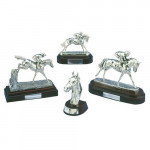 Silver Horses Head Trophy / Prize Equestrian Horse Racing