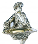 Silver Plated Victorian Antique Style Boy and Girl Table Salts