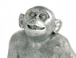 Hallmarked Silver  / Monkey Model Figure Statue
