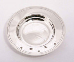 """Solid Silver 5"""" Amarda Dish / Arms / Drake's Dish / Plate (Engravable)"""