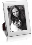 """Silver Hammered Photo / Photograph Frame (10 X 8"""") - Wood Back"""