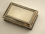 ANTIQUE WILL. IV SOLID SILVER SNUFF BOX BIRM. 1831 NATHANIEL MILLS Horses