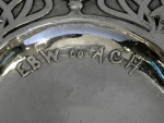 ANTIQUE ARTS & CRAFTS SOLID SILVER PRESENTATION DISH / PLATE LONDON 1903
