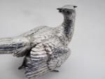 VINTAGE SOLID SILVER PHEASANT BIRD STATUE MODEL Import Mark 1964