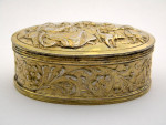 ANTIQUE DUTCH SOLID SILVER GILT BOX THE NETHERLANDS 1903