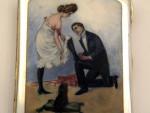 GERMAN SOLID SILVER AND ENAMEL CIGARETTE CASE c. 1920