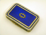 CONINENTAL GERMAN SILVER & ENAMEL BOX GERMANY c. 1925