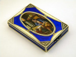 CONTINENTAL SILVER & ENAMEL BOX IMPORT MARK 1925 VERMEER THE GEOGRAPHER