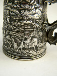 ANTIQUE CHINESE SOLID SILVER CHILD'S CHRISTENING MUG CHINA c. 1880