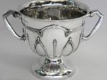 ANTIQUE ARTS & CRAFTS SOLID SILVER TROPHY / CUP / BOWL BIRMINGHAM 1912