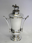 SOLID SILVER HORSE / EQUESTRIAN / RACING TROPHY / CUP / PRIZE LONDON 1980