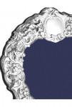 Silver Victorian Style Ornate Heart Photo Photograph Frame (Velvet Back)