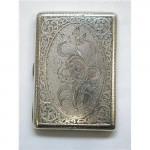 ANTIQUE VICTORIAN SOLID SILVER CARD CASE BIRMINGHAM 1886