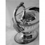 ANTIQUE VICTORIAN SILVER PLATED SPOON WARMER c 1880