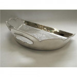 ANTIQUE VICTORIAN SILVER PLATED CRUMB DUST PAN c. 1880