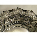 ANTIQUE VICTORIAN SOLID SILVER DISH / BOWL 1897