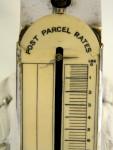 VINTAGE NOVEL SOLID SILVER POST PARCEL RATES SCALE BIRM. 1919