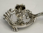 FRENCH ANTIQUE SILVER CHAMBERSTICK / CHAMBER STICK / CANDLE HOLDER c. 1820