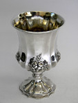 ANTIQUE VICTORIAN SOLID SILVER GOBLET / CHALICE / CUP LONDON 1841