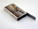 VICTORIAN SILVER & ENAMEL VESTA CASE / MATCH HOLDER LONDON 1896 SAMPSON MORDAN