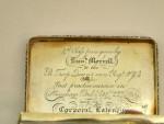 ANTIQUE GEORGIAN GEO. IV SOLID SILVER SNUFF BOX LONDON 1820