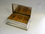 ANTIQUE SOLID SILVER CIGAR / CIGARETTE BOX LONDON 1908