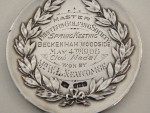 ANTIQUE SOLID SILVER GOLF MEDAL BIRMINGHAM 1907 GOLFING
