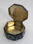 ANTIQUE RUSSIAN SILVER & ENAMEL TRINKET BOX c. 1910