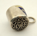 (SOLD) ANTIQUE SOLID SILVER & ENAMEL YACHT / BOAT WHISTLE c. 1910 ROYAL YACHT CLUB
