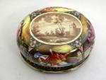 ANTIQUE SILVER & VIENNESE ENAMEL BOX AUSTRIA c. 1880