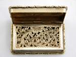VICTORIAN SILVER GILT CASTLE TOPPED VINAIGRETTE BIRM. 1836 NEWSTEAD ABBEY