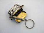 (SOLD) ANTIQUE VICTORIAN SILVER HAND BAG VINAIGRETTE BIRMINGHAM 1856