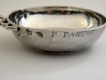 ANTIQUE FRENCH SOLID SILVER WINE TASTER FRANCE c. 1750