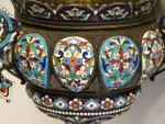 ANTIQUE RUSSIAN SILVER & ENAMEL LAMP / INCENSE HOLDER c. 1890 N. ANTIPOV