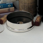 Sterling Silver & Slate Wine Bottle Coaster (4 inches)