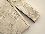 VICTORIAN SOLID SILVER CARD CASE BIRMINGHAM 1852 (BUSINESS CARD CASE)