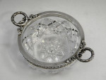 ANTIQUE RUSSIAN SOLID SILVER & CUT GLASS BOWL / DISH MOSCOW 1908 - 17 4TH ARTEL