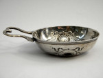 FRENCH ANTIQUE SOLID SILVER WINE TASTER c. 1890 FRANCE