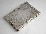 ANTIQUE SOLID SILVER CARD CASE BIRMINGHAM 1903 (BUSINESS / CALLING CARD)