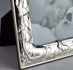 """Solid Silver Child's Baby Christeneing Fairy Tale Frame (5 X 3.5"""")"""
