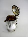 SCOTTISH VICTORIAN SOLID SILVER COFFEE JUG / POT / HOT WATER JUG EDINBURGH 1887