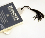 Solid Silver Book Mark / Bookmark with Tassel (Suitable for Engraving)