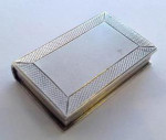 William IV Silver Book Shaped Vinaigrette Birmingham 1834