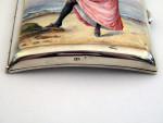 VICTORIAN SILVER & ENAMEL CARD / CIGARETTE CASE LONDON 1888