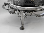 VICTORIAN SILVER PLATED REV / BREAKFAST / SERVING DISH c. 1870